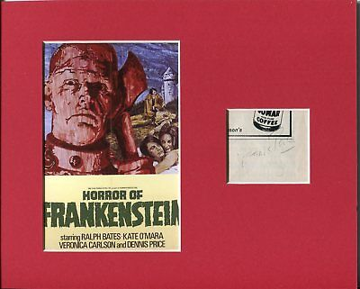 Dennis Price The Horror of Frankenstein Hammer Signed Autograph Photo Display