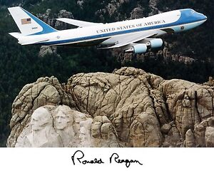President-Ronald-Reagan-Air-Force-One-Autograph-11-x-14-Photo-Picture-Poster-f3
