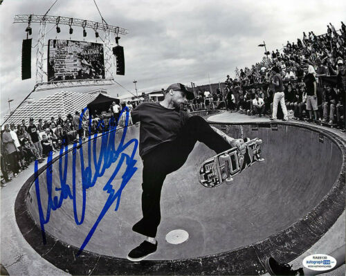 Mike V Vallely Signed Skateboarding 8x10 Photo EXACT Proof ACOA F Bones Brigade