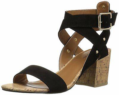 Indigo Rd. Womens Elea Open Toe Casual Ankle Strap Sandals, Black, Size 7.0 piRm