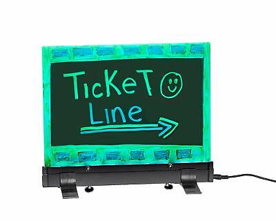 Alpine Acrylic Hanging Led Neon Eraseable Message Sign 9 X 12 Writing Board