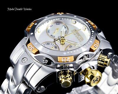 Invicta Reserve Womens 44mm Venom Gold & Silver Swiss Chronograph Bracelet Watch