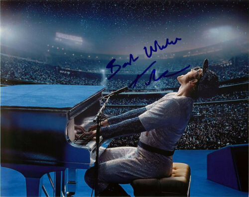 Taron Egerton Signed Elton John Rocketman 8x10 Photo E Proof COA Dodger Stadium