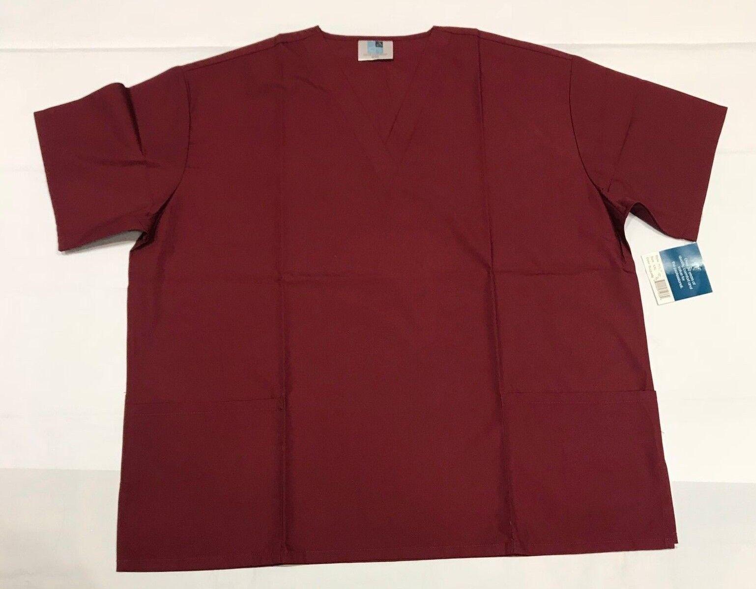 Adar Uniforms Unisex Dr/Nurses V neck Scrub Top color SZ 2XL