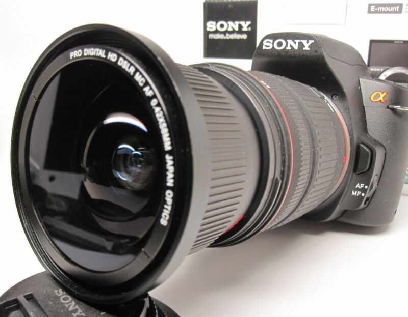 Ultra Wide Angle Macro Fisheye lens for Sony Alpha A7 A77 A65 A58 18-135 16-105