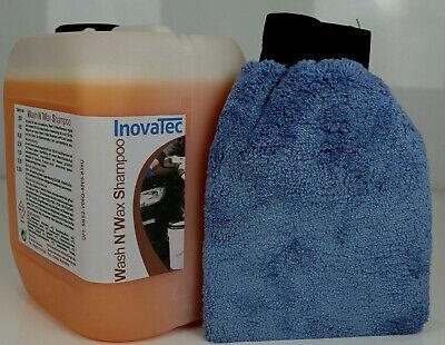 5 L Autoshampoo mit Waschwachs + Waschhandschuh  Autopflege  Autowäsche