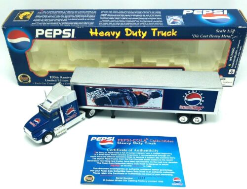 Pepsi 100th Anniversary Heavy Duty Semi Truck 1:50 Die-Cast Metal Collectible