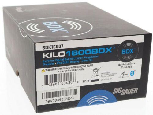 💎 NEW Sig Sauer KILO1600BDX 6X22mm Digital Ballistic Rangefinder SOK16607 💎