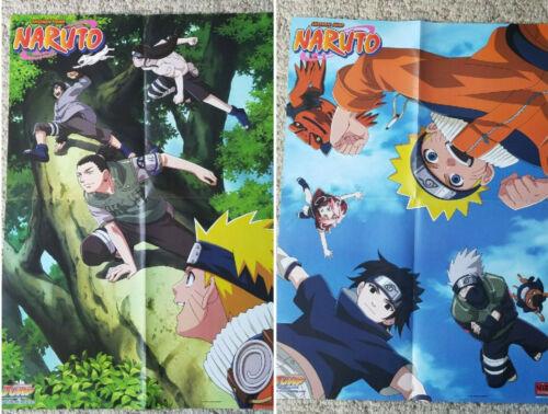 "2002 SHONEN JUMP Naruto WALL POSTER 22"" x 16"" Masashi KISHIMOTO Manga TWO SIDED"