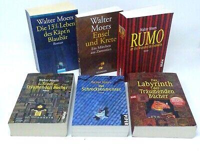 WALTER MOERS Zamonien 1-6 Blaubär Rumo Stadt Schrecksenmeister Labyrinth 6x Buch