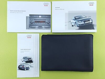 AUDI A4 B7 (2005 - 2008) Owners Manual / Handbook + Audio Guide + Wallet