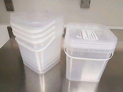 Kunststoffeimer transparent mit Deckel lebensmittelecht 6 L 5x Eimer