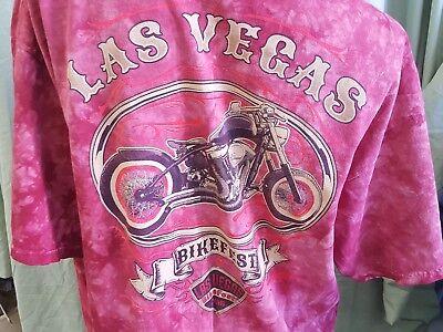 Las Vegas 2016 Bike Fest Motorcycle T Shirt Men Size XL Short Sleeve Tee