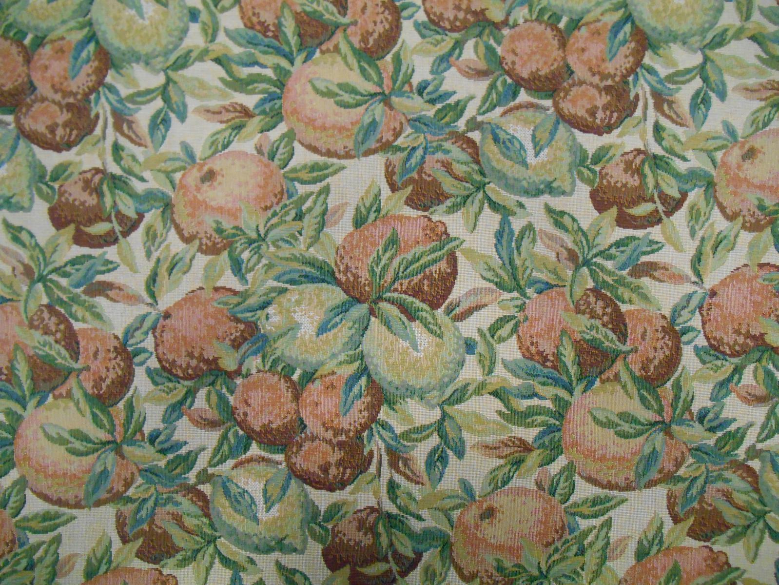 Curtain Fabric Voyage Decoration Belle Orange Floral Cotton Designer Curtain