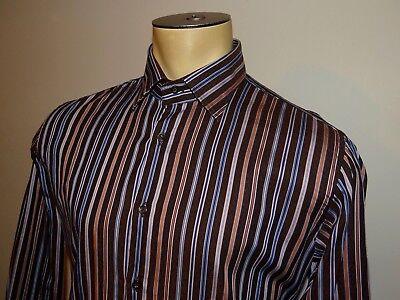 Mens ETRO multi color striped l/s button down dress shirt EUR 41 US 16