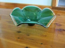 MURANO STYLE EMERALD GREEN GLASS BOWL Riverwood Canterbury Area Preview