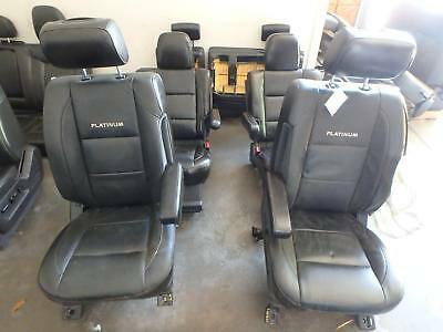 04-10 Nissan Armada Front 2nd 3rd Row Rear Seat Black Leather Platinum