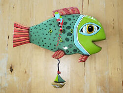 Allen Designs High Tide Fish Pendulum Wall Clock