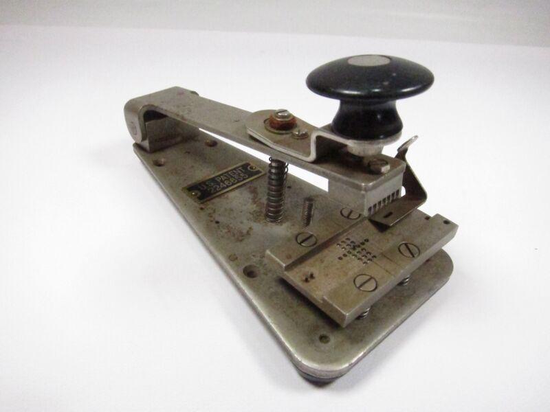 Vintage Paper Tape Punch Splice Patent 2246655 TT-54/FG
