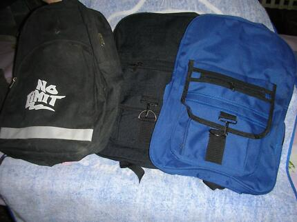 3- Back Packs - 2 brand new - 1 used ideal Back to School bargain
