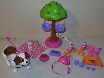 2008 MATTEL BARBIE DOLL HOUSE DOLLHOUSE MOTION DOG WALKER PUPPY SET REPLACE LOT