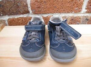 Clarks Navy Blue Leather with Flashing Lights Boys Shoes North Rocks The Hills District Preview
