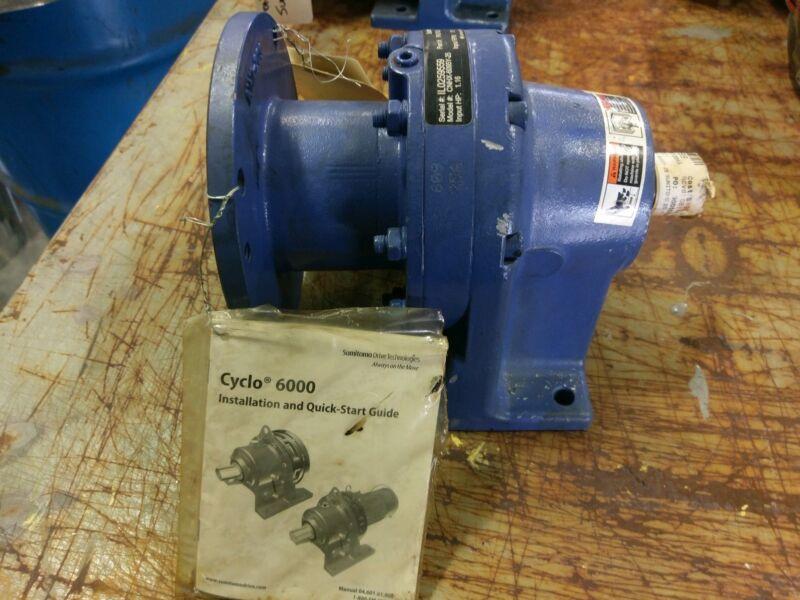 Sumitomo SM-Cyclo CNHX-6095Y-25 Inline Speed Reducer, 25 Ratio, 1.16HP