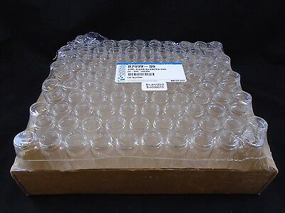 National Scientific Glass 40ml Silanized Clear Storage Vial 24-400 Pack Of 100