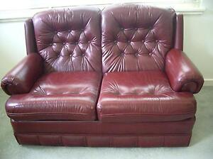 2 Seat Leather Lounge and 2 Matching Leather Arm Chairs Lane Cove Lane Cove Area Preview