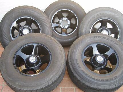 """TOYOTA LANDCRUISER 100SERIES LIVEAXEL 5 ALLOYWHEELS AND TYRES 16"""""""