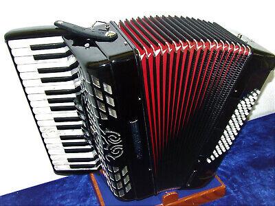 Bugari Akkordeon Championfisa 115 Ch, 72 Bass, NEU mit Koffer