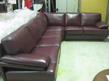 New maroon\red leather modular sofa Bayswater Bayswater Area Preview