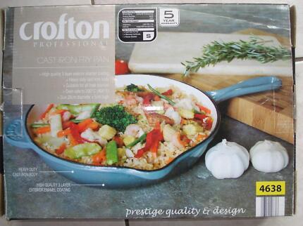 Crofton Cast Iron Fry Pan Brand New 26cm