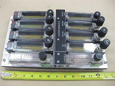 Lot Brooks Instrument Flow Meter Sho-rate Controls In Panel 10 Rotameter Svg Usa
