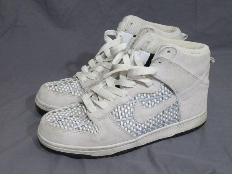 Hacia atrás Interprete Lógico  RARE! Nike Dunk High Top Premium Suede Woven Grey & Silver 317891-007 Men's  7.5 | eBay