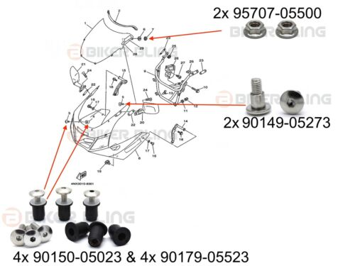 yamaha trx 850 wiring diagram yamaha trx 850 1996 2000 shouldered wind screen bolts   rubber  yamaha trx 850 1996 2000 shouldered