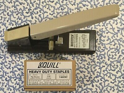 Bostitch Staper Heavy Duty Industrial With 8 Boxes Of 100 Quill 14 Staples