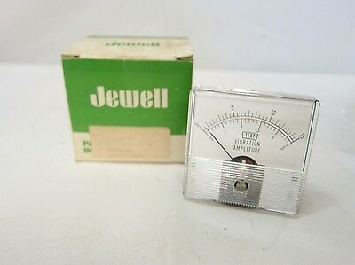 New In Box Jewell Panel Instruments Vibration Amplitude Gauge Meter 05344