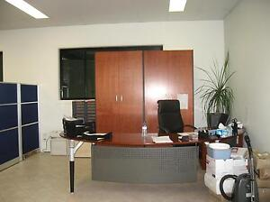 Large Solid Wood Office Desk with 2 Matching Cupboards & Filing Murray Bridge Murray Bridge Area Preview