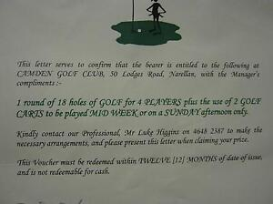 Golf Voucher for 4 persons and  2 Carts - Camden Golf Club Bangor Sutherland Area Preview