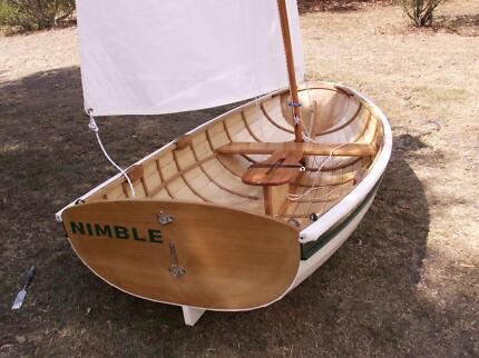 8 Foot timber clinker sailing dinghy Howden Kingborough Area Preview