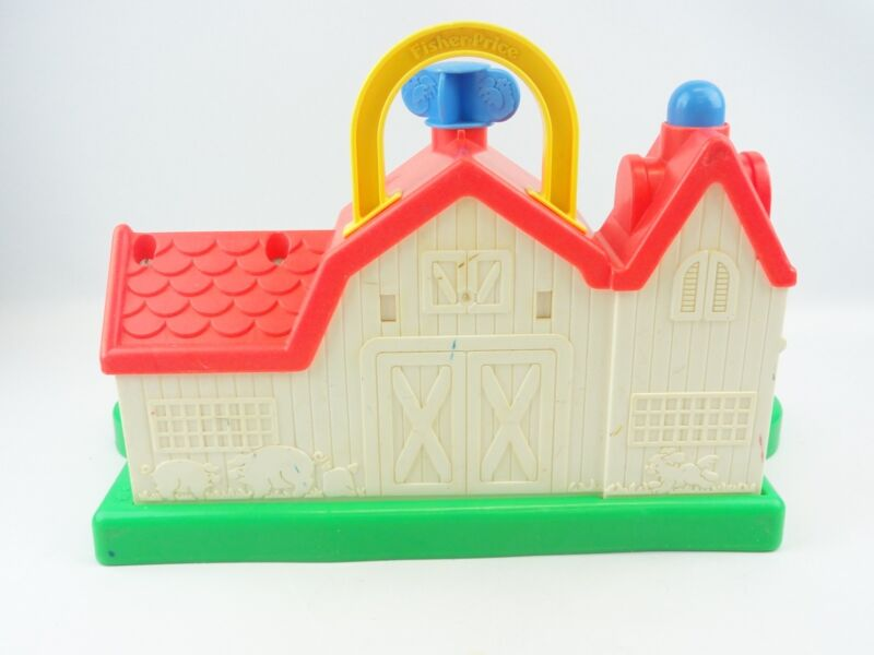 Fisher Price #1005 Animal Sounds Barn Vintage 1987 Horse ...