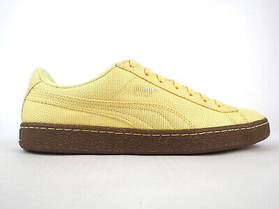 Mens Puma Basket Ripstop IC 362340 01 Mellow Yellow Lace Up Trainers