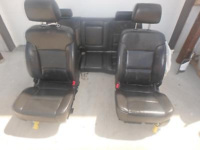 14-17 Gmc Sierra 1500 Front Rear Seat Black Leather Red Stitch All Terrain Crew