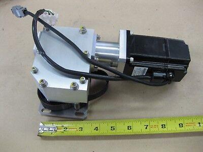 Lot Yaskawa Sgmah-02baa41 200w Ac Servo Motor With 90 Degree Gear Reducer Belt