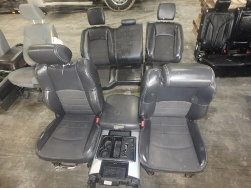 09-11 Dodge 1500 2500 3500 Front Rear Seat Console Black Leather Cloth Power