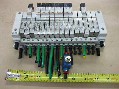 Smc Pneumatic Pcw Type 16 Valve Bank Lot Vvq1000-10a-1 24vdc X250 Mount Body