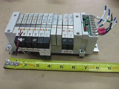 Smc Pneumatic Pcw Type 11 Valve Bank Lot Vq1101r-5 24vdc Serial Unit Sj1 Body