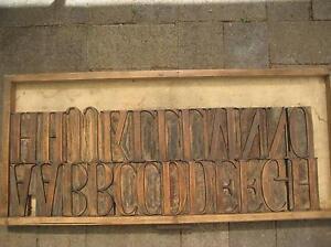 Printers Letterpress Hardwood Type Joondalup Joondalup Area Preview