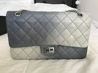 Authentic Classic Double Hybrid Reissue Degrade Flap Bag Quilted Lambskin Jumbo